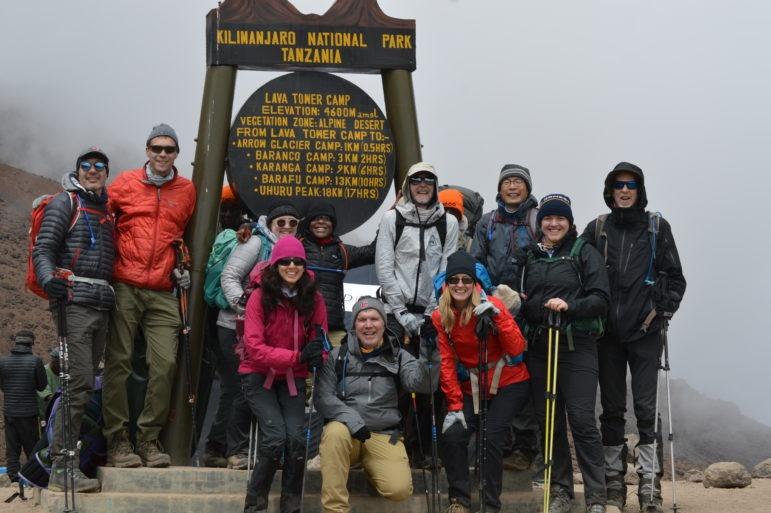 Climbers on Kilimanjaro at Lava Tower Camp